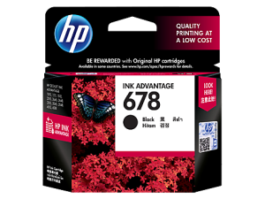 Hp ink 678 black cartridge original