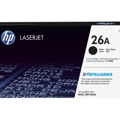 HP 26A Black Original LaserJet Toner Cartridge